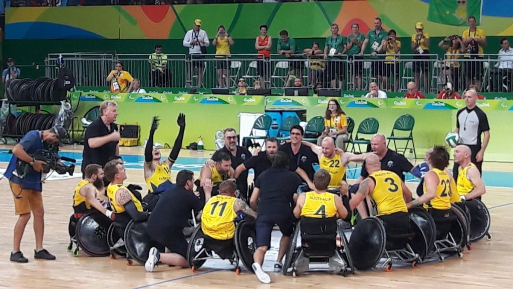 Australia successfully defended their Paralympic wheelchair rugby title with a thrilling 59-58 victory over the United States ©Twitter