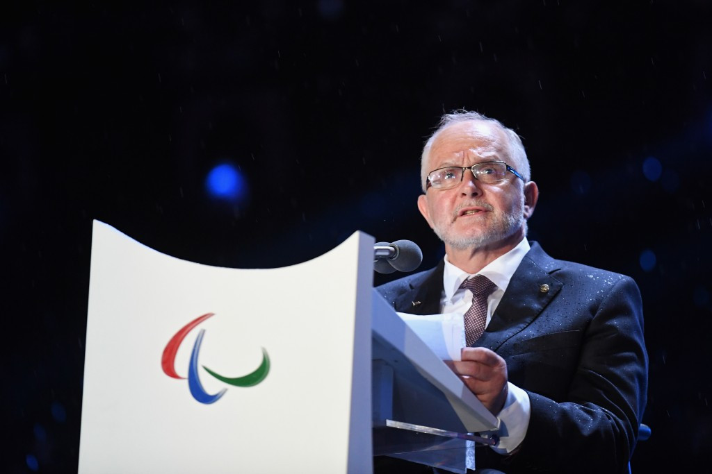 IPC President Sir Philip Craven paid his condolences to the family, friends and team-mates of late Iranian cyclist Bahman Golbarnezhad before officially declaring the Rio 2016 Paralympic Games closed this evening ©Getty Images