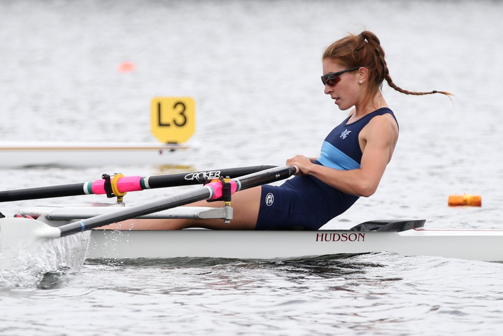 Zoe McBride beat a 21-year-old World Best in the lightweight single sculls at the Varese World Cup ©Getty Images