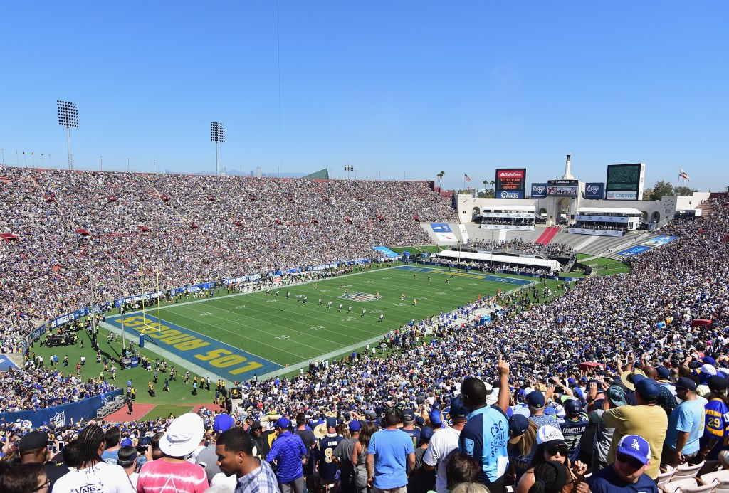 The Los Angeles Memorial Coliseum hosted the first Los Angeles Rams NFL match after their return to the city ©Getty Images