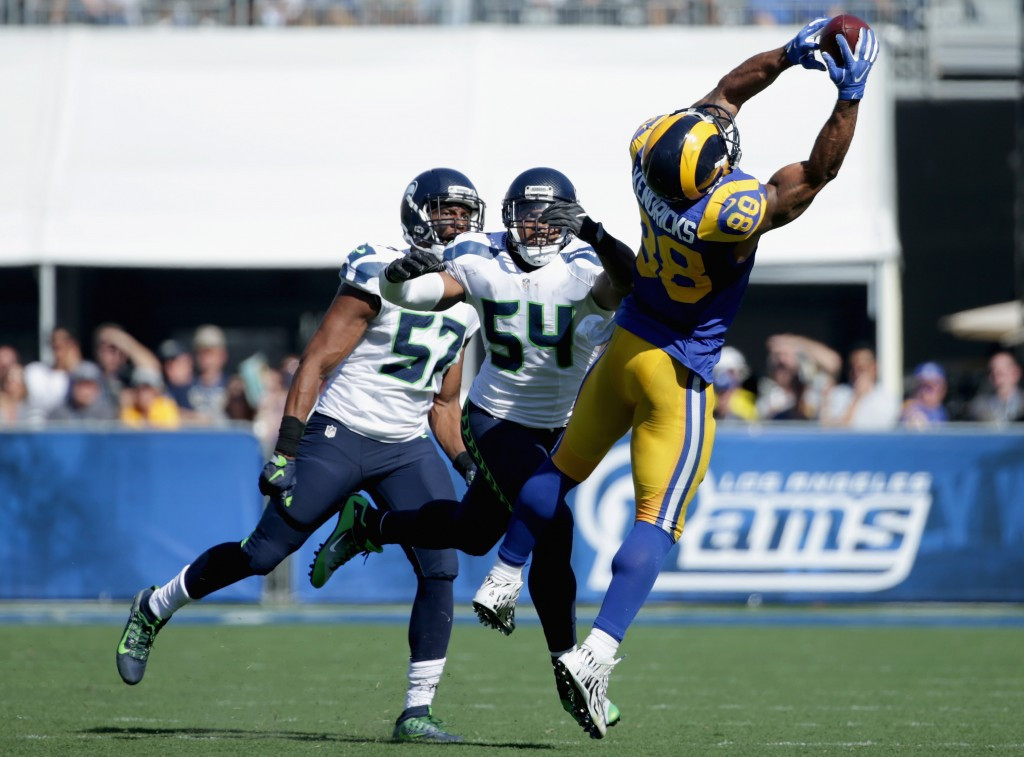 The game against the Seattle Seahawks was the first NFL match to take place in LA since the Rams moved to St Louis in 1994 ©Getty Images