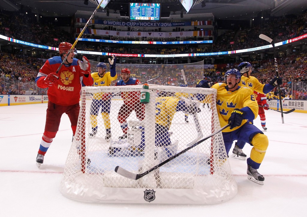A dramatic finish saw a late Russian goal ruled out by officials, as Sweden held on to win ©Getty Images