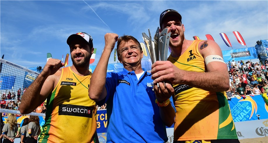 Bruno Oscar Schmidt and Alison Cerutti added to their Rio 2016 triumph by winning the World Tour finals ©FIVB