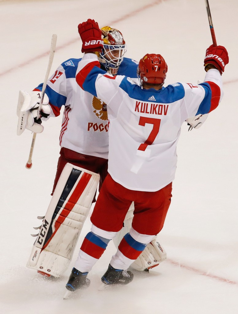 Russia keep World Cup of Hockey hopes alive by beating North America