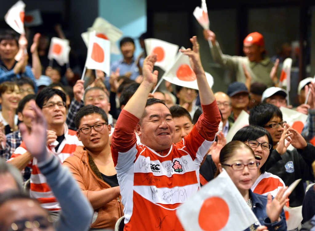 Japan marks three years to go before 2019 Rugby World Cup and anniversary of iconic South Africa win