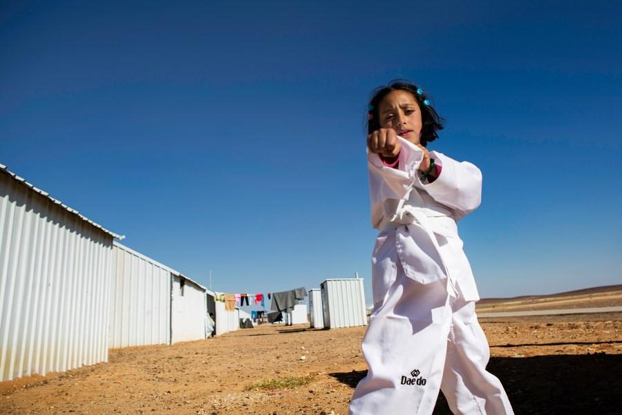 Nine-year-old Syrian gets taekwondo bug thanks to THF