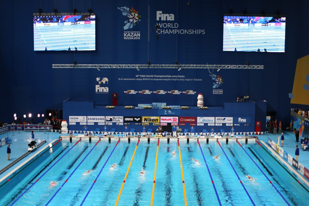 Kazan played host to last year's World Swimming Championships ©Getty Images