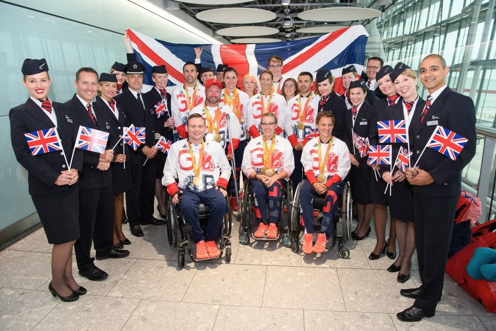 Britain's Paralympians arrived back home today ©Getty Images