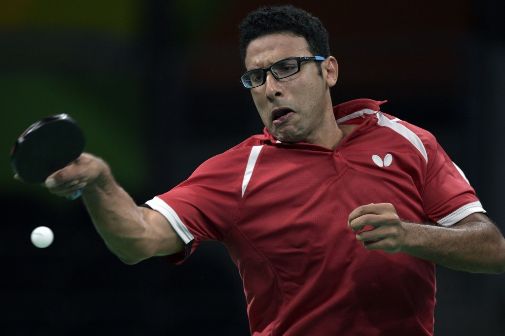 Omar Assar of Egypt safely reached the round of 16 with two comfortable wins ©Getty Images