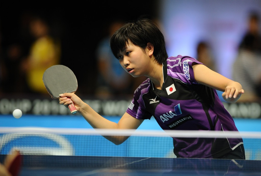 Japan's Hitomi Sato, the top seed in the women's draw, progressed by beating Lucie Gauthier of France in straight games ©Getty Images