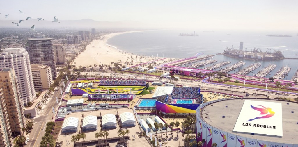 Long Beach would become a key venue hub if Los Angeles wins the race for the 2024 Olympics and Paralympics ©LA 2024