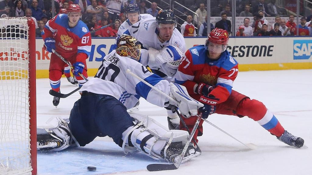 Russia secure semi-final spot with victory over Finland at World Cup of Hockey