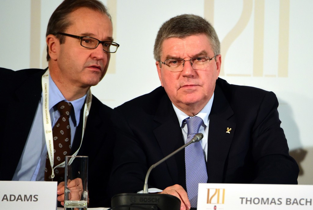 IOC Presidential spokesman Mark Adams (left) has claimed they have never had any plans to form a WADA Integrity Unit ©Getty Images