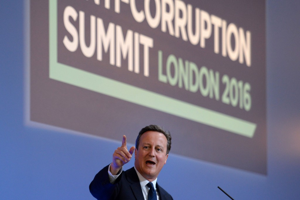 Former British Prime Minister David Cameron called for a sporting integrity unit at an Anti-Corruption Summit in London in May at which the International Olympic Committee participated ©Getty Images