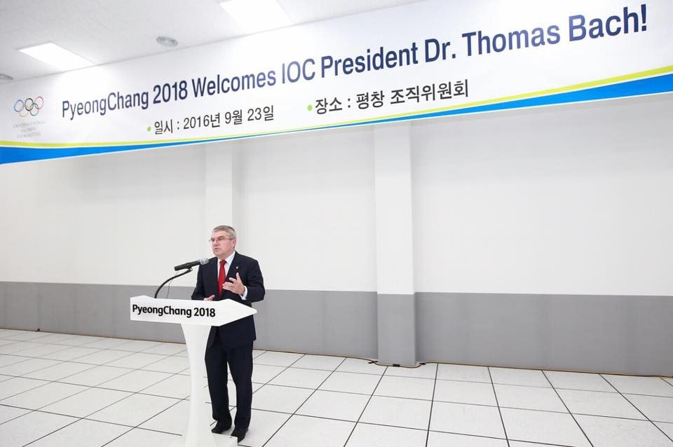 "IOC President Thomas Bach hailed the ""time of Asia"" at meetings held in South Korea ©Pyeongchang 2018"