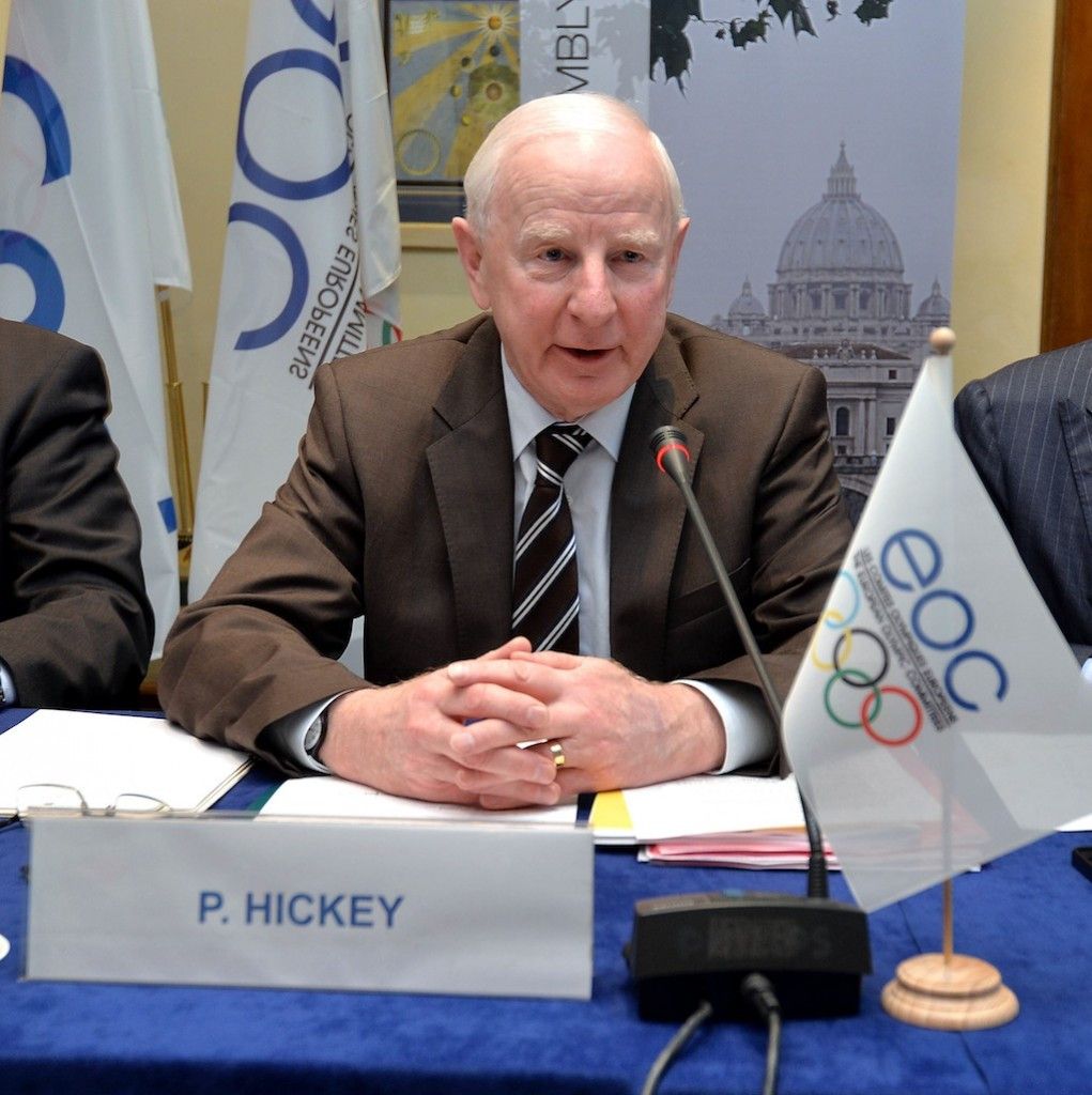 Patrick Hickey has been backed to clear his name by the European Olympic Committees ©EOC