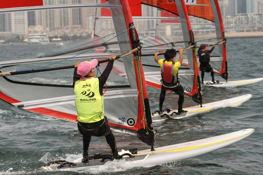 Shi wins women's RS:X gold on penultimate day of Sailing World Cup in Qingdao