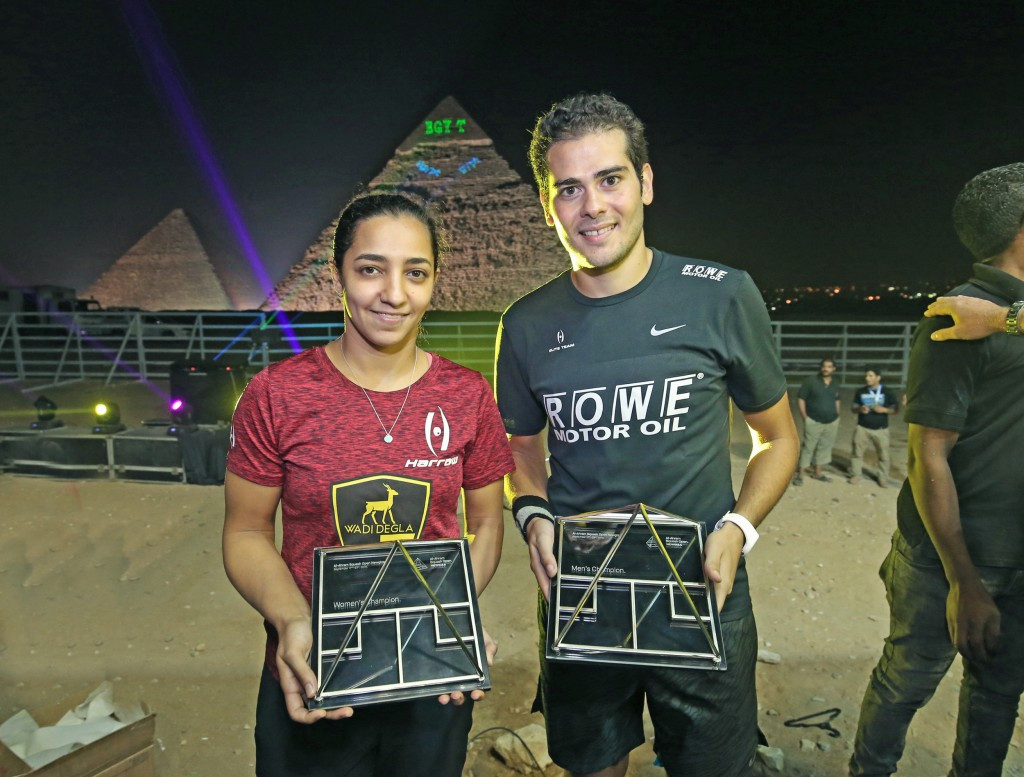 Gawad and El Welily seal Al Ahram Squash Open titles at the Pyramids