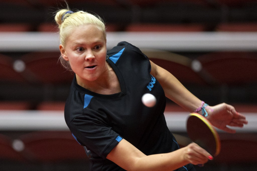 Georgina Pota of Hungary completed a sublime gold medal double today in the ITTF Belgium Open ©ITTF