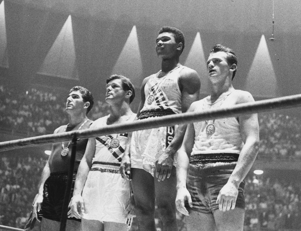 Muhammad Ali won the Olympic light heavyweight title at Rome in 1960 ©Getty Images