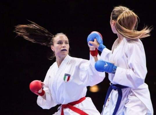 Italy's Sara Cardin missed out on a place in the women's under 55kg final ©WKF/Twitter