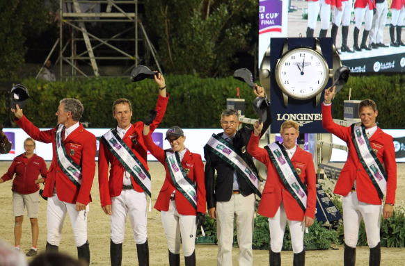 Germany pip Britain to FEI Nations Cup title after jump-off