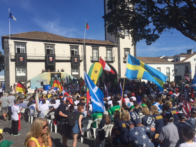 The Opening Ceremony for the VISSLA ISA Junior World Surfing Championships in the Azores on gave an early example of the carnival atmosphere we can expect surfing to bring to Japan's capital ©ITG