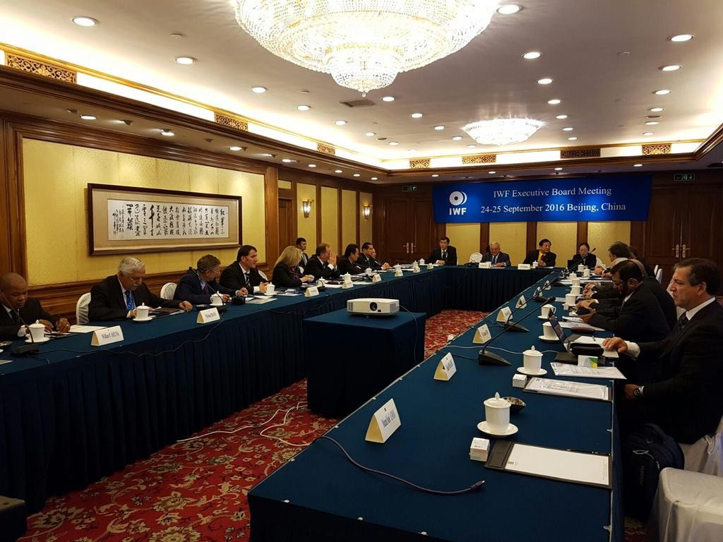 Decisions were made at an IWF Executive Committee meeting in Beijing ©IWF/Twitter