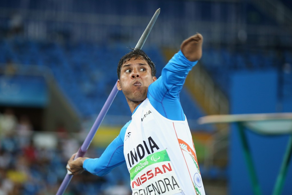 Devendra Jhajharia won a Paralympic silver medal for India in javelin  ©Getty Images