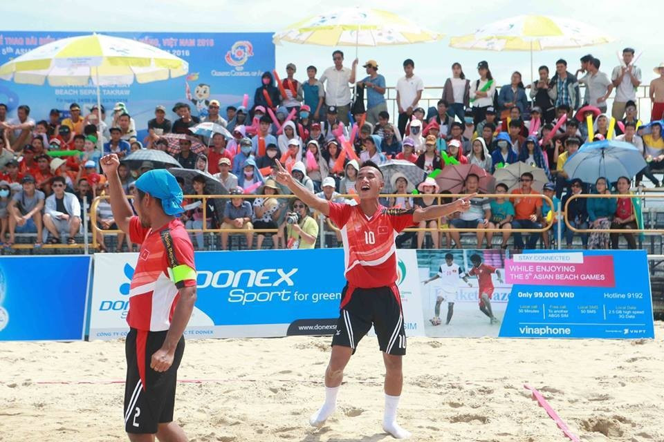 Vietnam claimed four gold medals as action intensified at the Asian Beach Games ©Danang 2016/Facebook