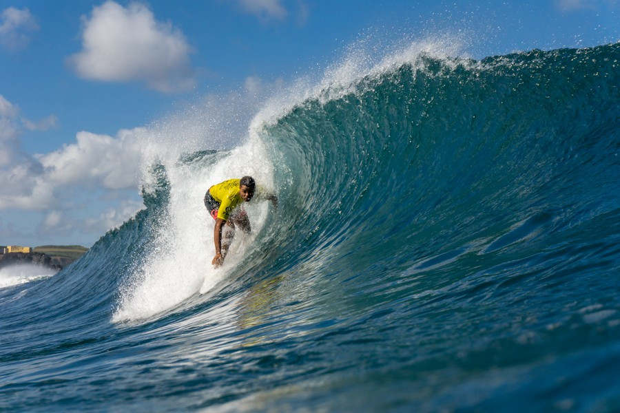 In the boys' under-18 final Brazil's Wesley Dantas won the gold medal ©ISA