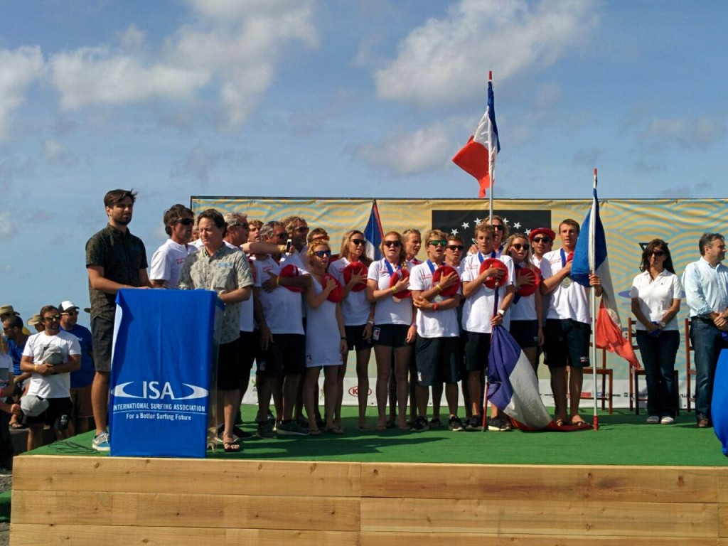 France have won the team gold medal on the final day of action at the VISSLA 2016 World Junior Surfing Championships ©ISA