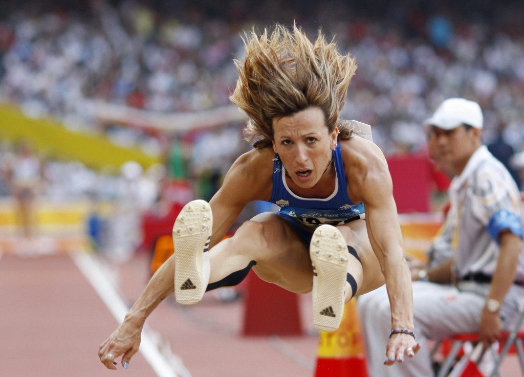 Greek triple jumper Hrysopiyi Devetzi has been embroiled in another doping case ©Getty Images