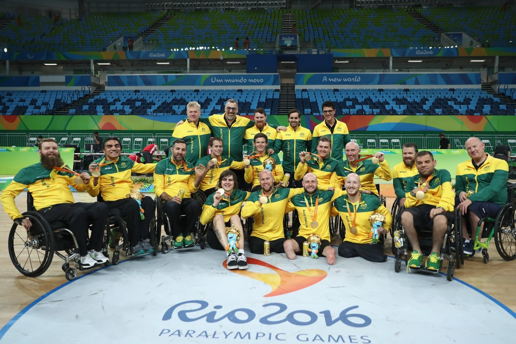 Australia move to top of IWRF world rankings after dramatic Paralympic gold