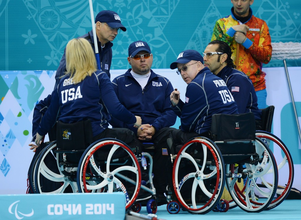 The United States finished sixth in the Sochi 2014 wheelchair curling competition ©Getty Images