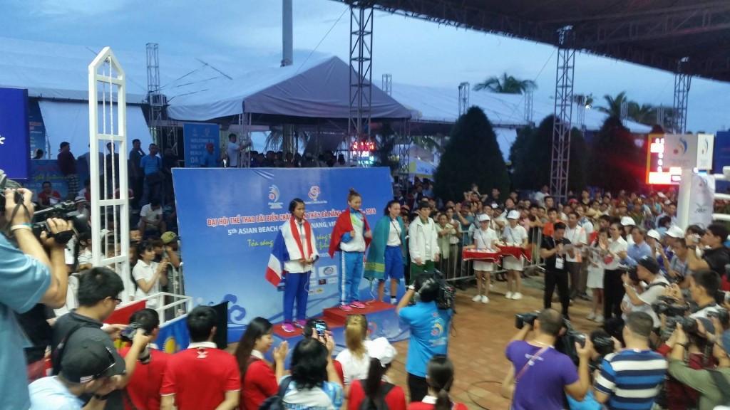 Thi Hai Bui celebrates her spectacular victory ©ITG