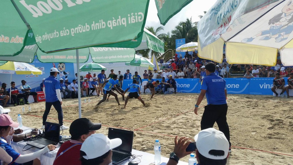 Kabaddi action also took place at the Asian Beach Games today ©ITG