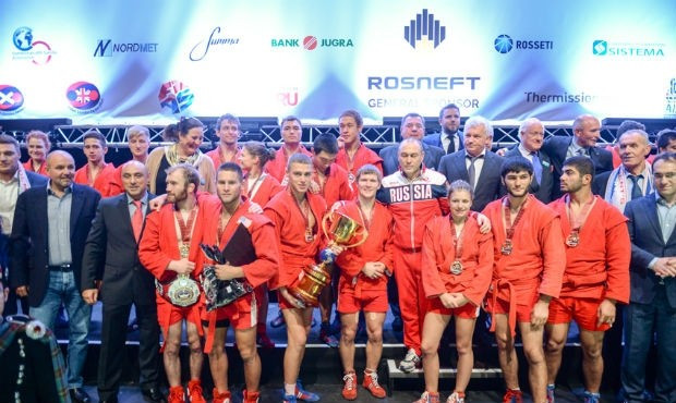 Russia claimed team victory in the third President's Sambo Cup in Edinburgh ©FIAS