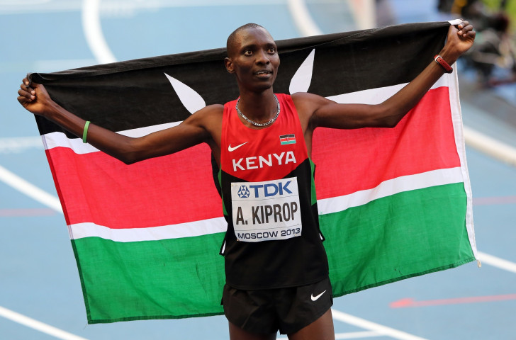 Asbel Kiprop, double world 1500m champion, was among leading athletes protesting against Athletics Kenya's six-month suspension of two agencies pending doping investigations