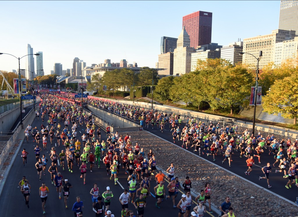A study has claimed the Chicago Marathon provided over a quarter of a billion dollar boost to the city for the third consecutive year in 2015 ©Getty Images