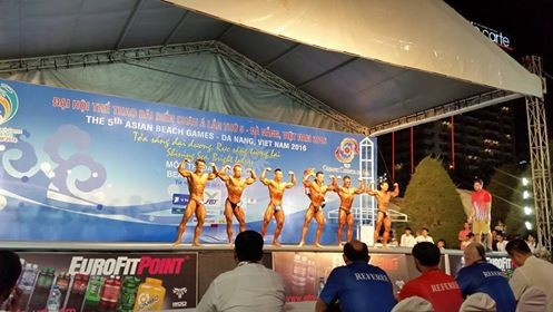 Vietnam flex muscles to win four Asian Beach Games bodybuilding titles