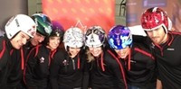 Canadian luge team's helmets up for auction
