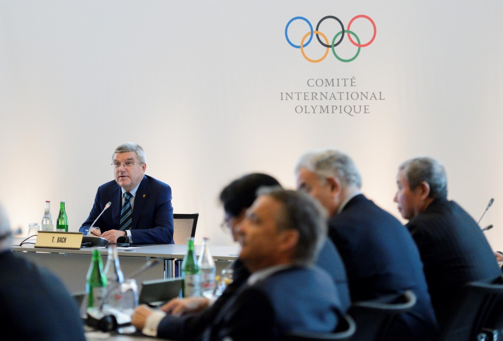 Thomas Bach chairing the last Olympic Summit in Lausanne in June ©Getty Images