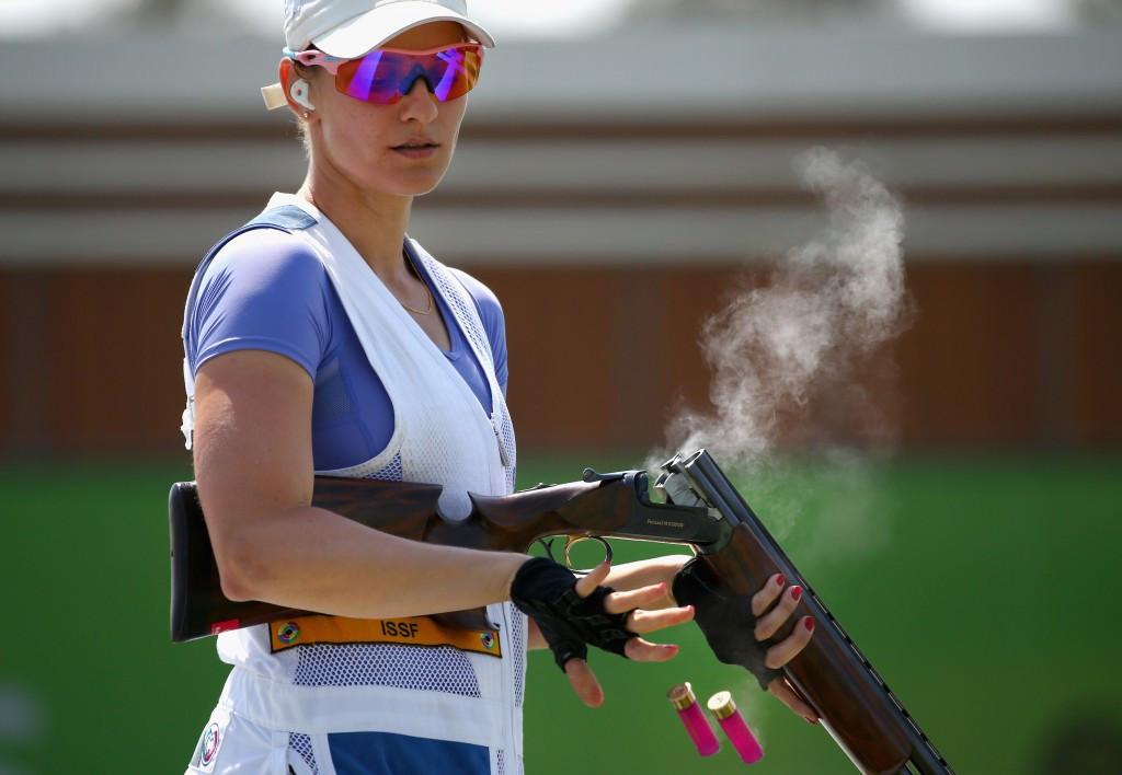 Slovakia's Danka Barteková won women's skeet gold at the ISSF Shotgun World Cup in Cairo ©Getty Images