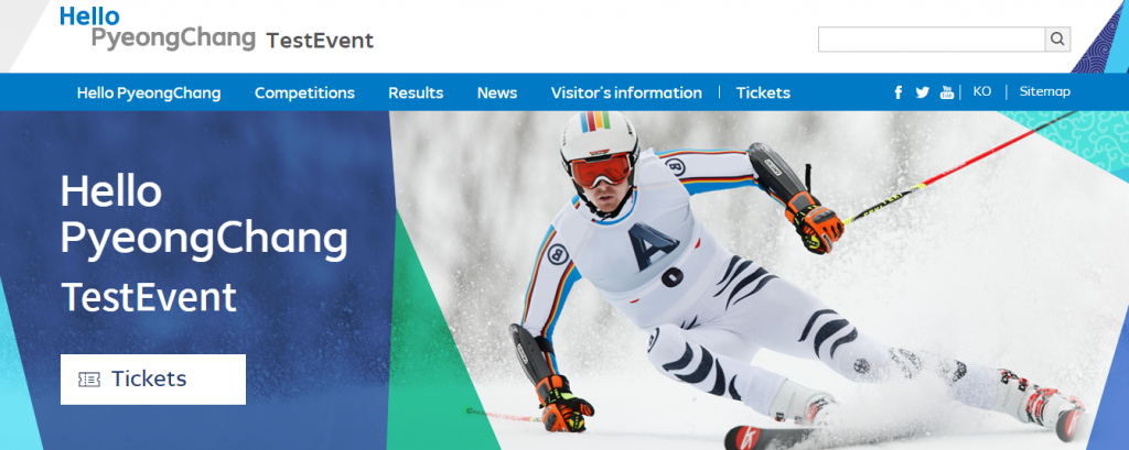 Tickets are available through the Pyeongchang 2018 test event website ©Hello Pyeongchang