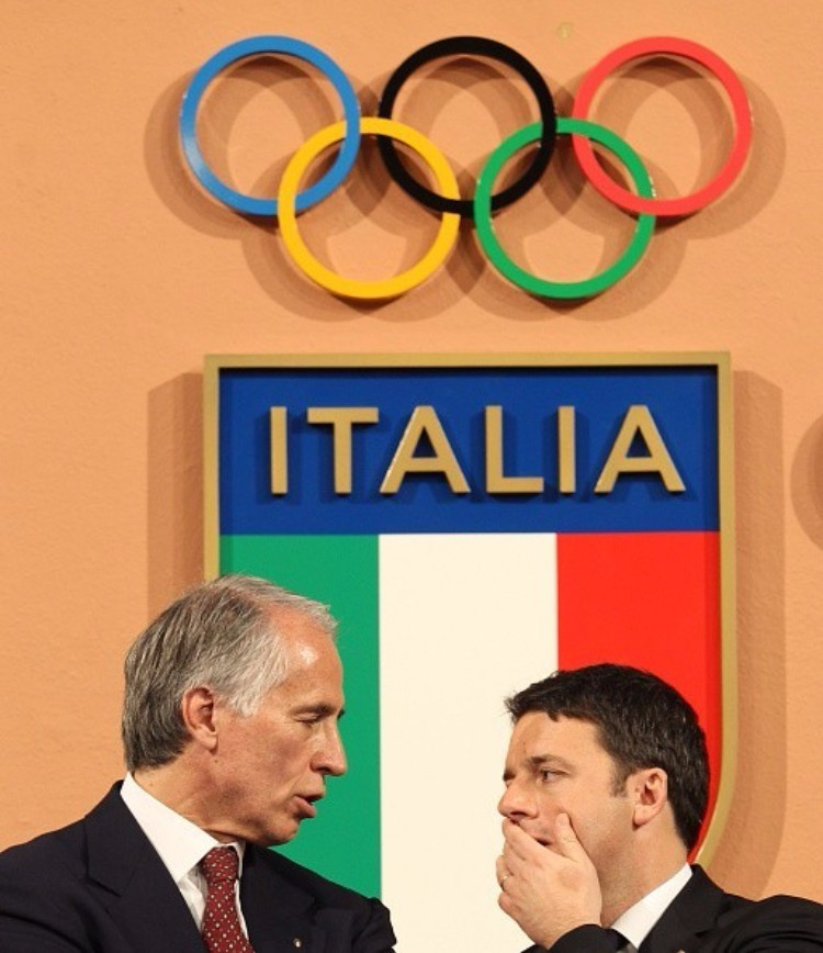 CONI President Giovanni Malagò (left) and Italian Prime Minister Matteo Renzi are other key figures behind the Rome decision ©Getty Images