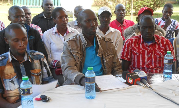 London Marathon 2014 winner and former world record holder Wilson Kipsang has led athletes protesting againts Athletics Kenya's suspension of two agencies following doping allegations ©Twitter