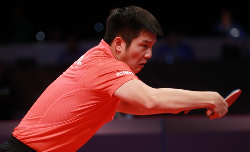 Kristian Karlsson will take on Fan Zhendong for a place in the final of the World Cup ©ITTF