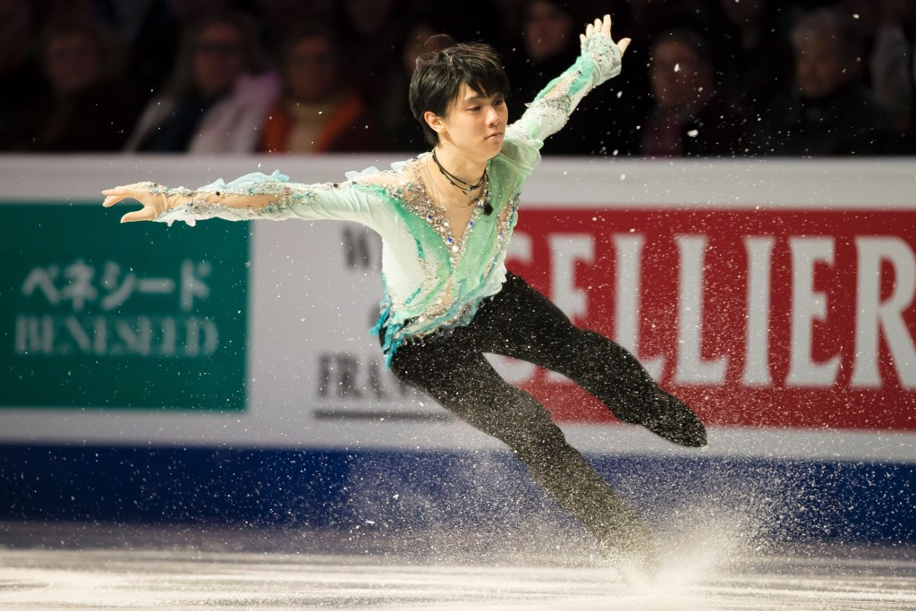Yuzuru Hanyu became the first skater to achieve a clean quad loop in an ISU competition ©Getty Images