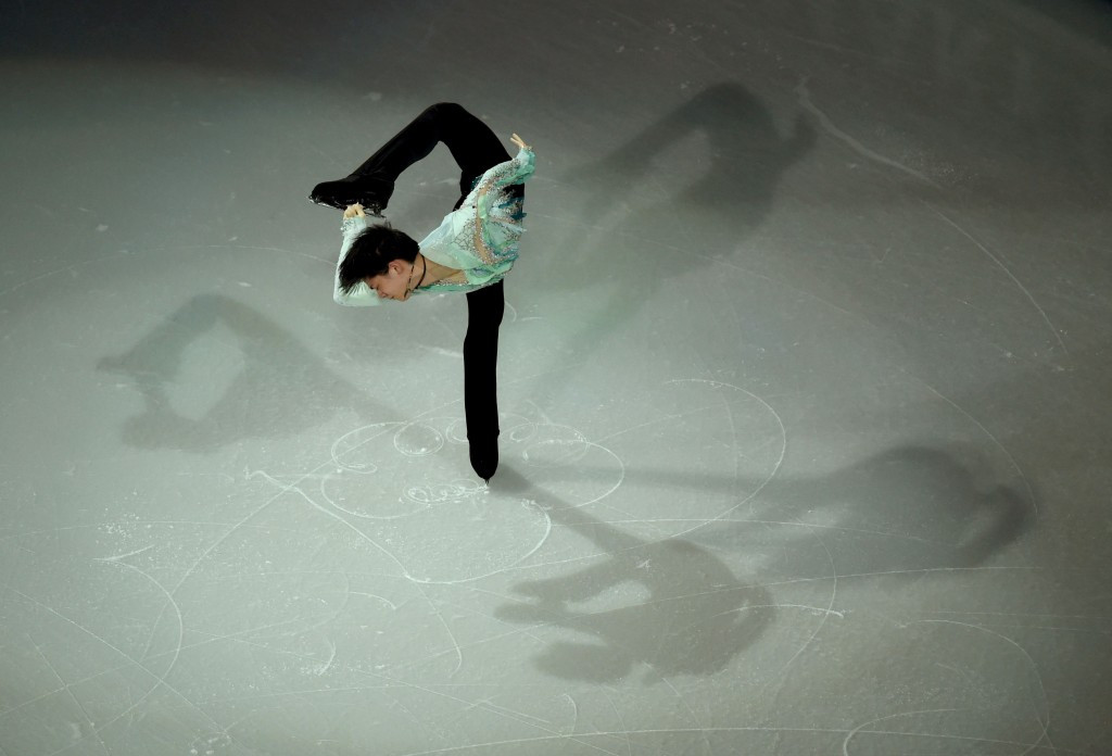 Yuzuru Hanyu's jump put him on course to win the Autumn Classic International ©Getty Images